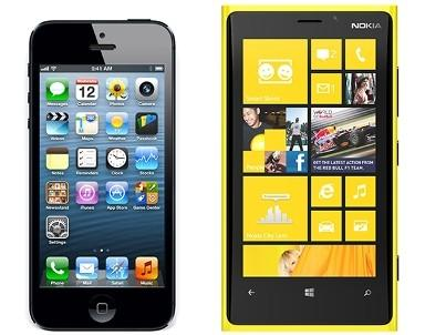 Lumia 920 vs iPhone 5