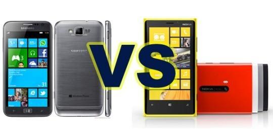 Сравнение Lumia 920 и Samsung Ativ S