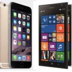 Битва титанов: Lumia 1520 vs iPhone 6 Plus