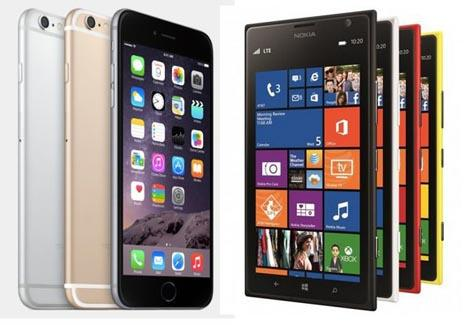 iPhone 6 Plus vs Lumia 1520