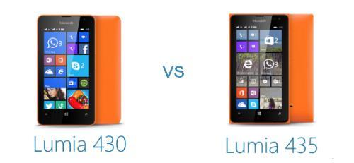 lumia 430 vs 435