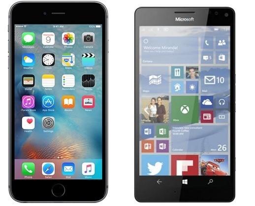 lumia 950 XL vs iPhone 6s Plus