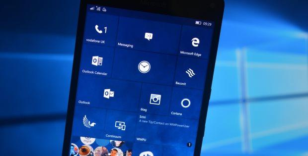 старт обновления Windows 10 Mobile