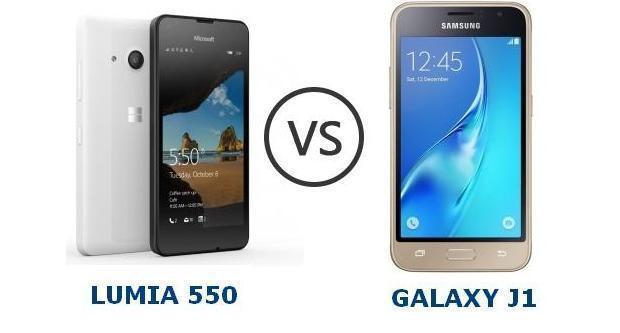 lumia 550 vs galaxy j1