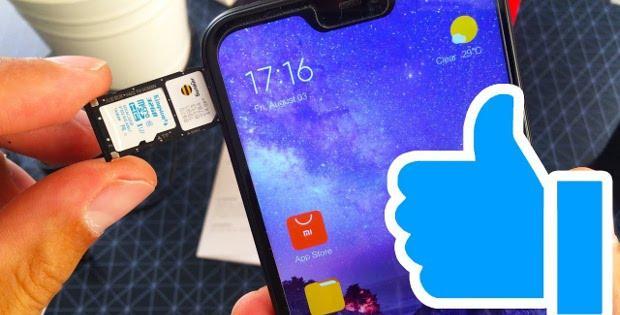 вставка сим-карты в Xiaomi Redmi
