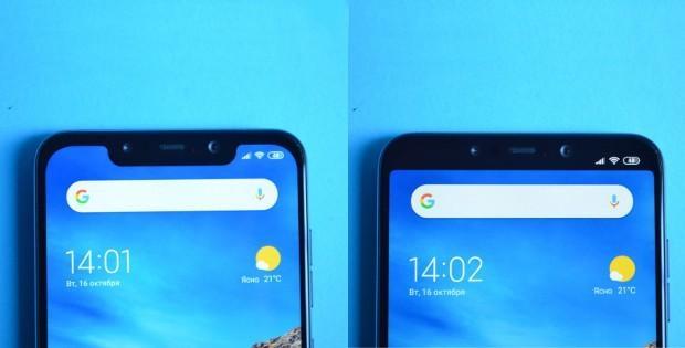 телефон Xiaomi с монобровью и без нее
