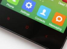 подсвеченные кнопки на Xiaomi