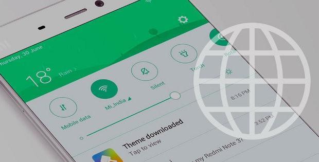 телефон Xiaomi и шар