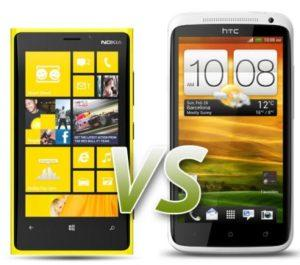 Nokia Lumia 920 Vs HTC One X