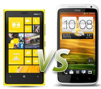 Nokia Lumia 920 Vs HTC One X