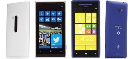 HTC 8x и Nokia Lumia 920