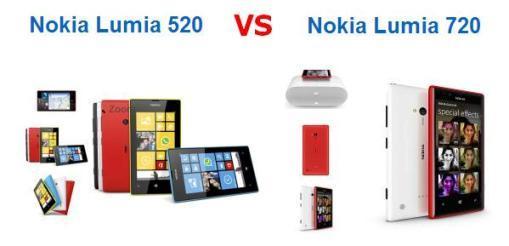 Lumia 520 сравнение с Lumia 720