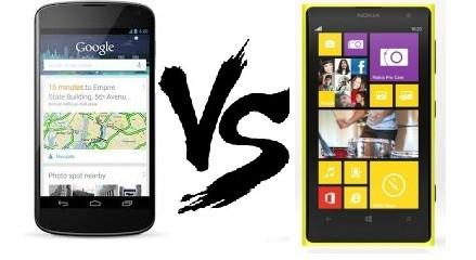 nexus 5 vs nokia lumia 1020