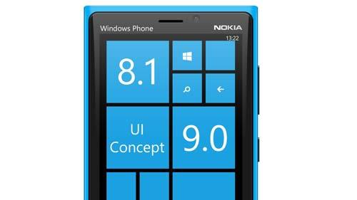 windows phone blue