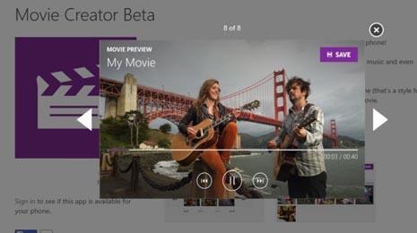 создание и редактирование фильмов на Lumia