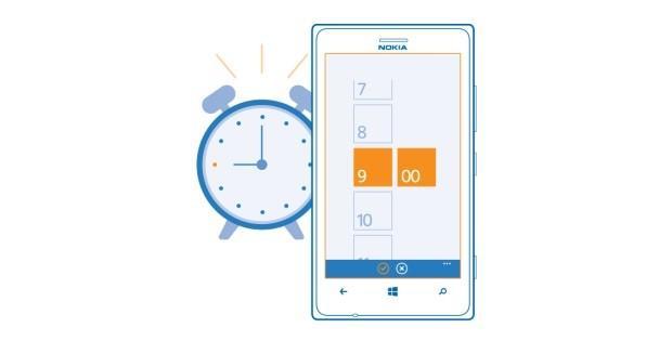 alarm clock lumia