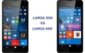 сравнение lumia 550 и lumia 650