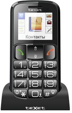 190 Texet TM B 16 - Большие сотовые телефоны для пожилых людей