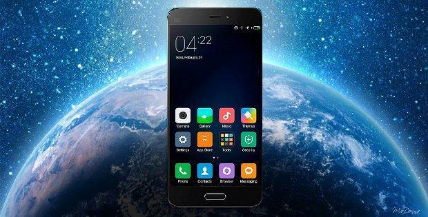 Xiaomi на фоне планеты