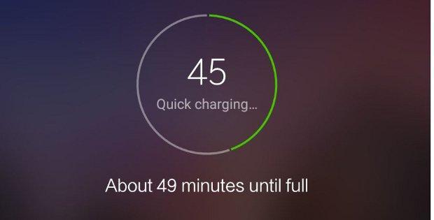 процесс зарядки на Xiaomi