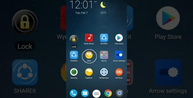 меню Xiaomi Redmi