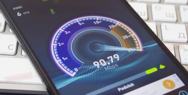отражение скорости интернета на смартфоне