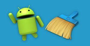 значок android с метелкой