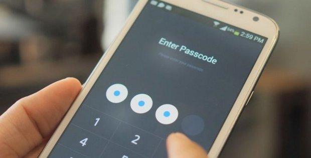 ввод пароля на телефоне