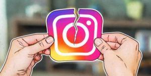 разорванный значок Instagram